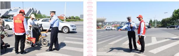 东海县开展创文站高峰文明交通志愿者培训活动